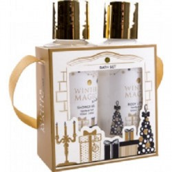Coffret WINTER MAGIC  douche et  lotion corps senteur vanille - musx